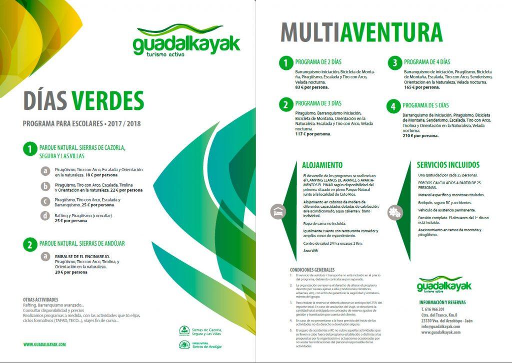 Actividades Guadalkayak 2018